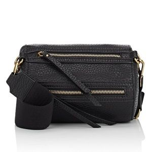 Barney's New York mini pebbled leather duffle bag